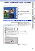 Sony DSC-TX5 - DSC-TX5 Istruzioni per l'uso Finlandese - Page 2
