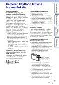 Sony DSC-TX5 - DSC-TX5 Istruzioni per l'uso Finlandese - Page 3