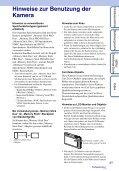 Sony DSC-TX5 - DSC-TX5 Istruzioni per l'uso Tedesco - Page 3