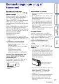 Sony DSC-TX5 - DSC-TX5 Istruzioni per l'uso Danese - Page 3