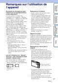 Sony DSC-TX5 - DSC-TX5 Istruzioni per l'uso Francese - Page 3