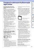 Sony DSC-W380 - DSC-W380 Istruzioni per l'uso Turco - Page 3