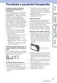 Sony DSC-TX5 - DSC-TX5 Istruzioni per l'uso Ceco - Page 3
