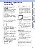 Sony DSC-S2100 - DSC-S2100 Istruzioni per l'uso Ceco - Page 3