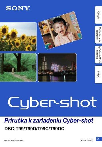 Sony DSC-T99D - DSC-T99D Istruzioni per l'uso Slovacco