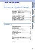 Sony DSC-W380 - DSC-W380 Guida all'uso Francese - Page 5