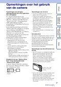 Sony DSC-TX5 - DSC-TX5 Istruzioni per l'uso Olandese - Page 3