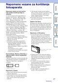 Sony DSC-TX5 - DSC-TX5 Istruzioni per l'uso Croato - Page 3