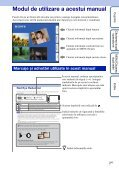 Sony DSC-T99D - DSC-T99D Istruzioni per l'uso Rumeno - Page 2
