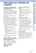 Sony DSC-T99D - DSC-T99D Istruzioni per l'uso Francese - Page 3