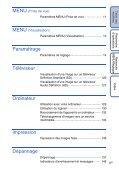 Sony DSC-T99D - DSC-T99D Istruzioni per l'uso Francese - Page 6
