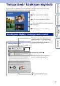 Sony DSC-T99D - DSC-T99D Istruzioni per l'uso Finlandese - Page 2
