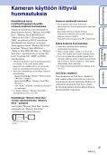 Sony DSC-T99D - DSC-T99D Istruzioni per l'uso Finlandese - Page 3