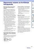 Sony DSC-T99D - DSC-T99D Istruzioni per l'uso Croato - Page 3