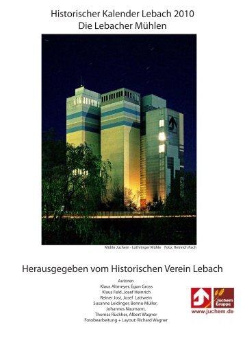 Zur Lebacher Mühlengeschichte - Historischer Verein Lebach EV