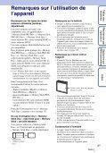 Sony DSC-W350 - DSC-W350 Istruzioni per l'uso Francese - Page 3