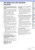 Sony DSC-T99D - DSC-T99D Istruzioni per l'uso Svedese - Page 3