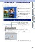 Sony DSC-W350 - DSC-W350 Istruzioni per l'uso Norvegese - Page 2