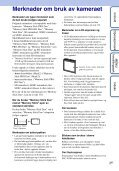 Sony DSC-W350 - DSC-W350 Istruzioni per l'uso Norvegese - Page 3