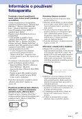 Sony DSC-W350 - DSC-W350 Guida all'uso Slovacco - Page 3