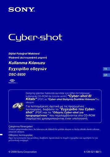 Sony DSC-S930 - DSC-S930 Istruzioni per l'uso Turco