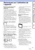 Sony DSC-W350 - DSC-W350 Guida all'uso Francese - Page 3