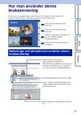 Sony DSC-W180 - DSC-W180 Istruzioni per l'uso Svedese - Page 2