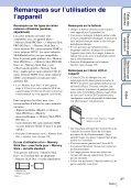 Sony DSC-H55 - DSC-H55 Istruzioni per l'uso Francese - Page 3
