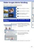 Sony DSC-W180 - DSC-W180 Istruzioni per l'uso Danese - Page 2