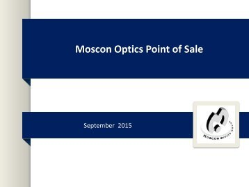 Moscon Optics Point of Sale