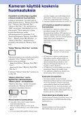 Sony DSC-W360 - DSC-W360 Istruzioni per l'uso Finlandese - Page 3