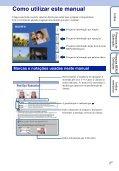 Sony DSC-W180 - DSC-W180 Istruzioni per l'uso Portoghese - Page 2