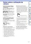 Sony DSC-W180 - DSC-W180 Istruzioni per l'uso Portoghese - Page 3