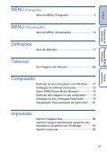Sony DSC-W180 - DSC-W180 Istruzioni per l'uso Portoghese - Page 5