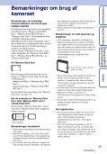 Sony DSC-W360 - DSC-W360 Istruzioni per l'uso Danese - Page 3