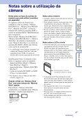 Sony DSC-H55 - DSC-H55 Istruzioni per l'uso Portoghese - Page 3