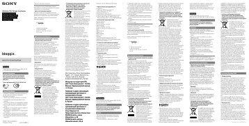 Sony MHS-FS1 - MHS-FS1 Istruzioni per l'uso Russo