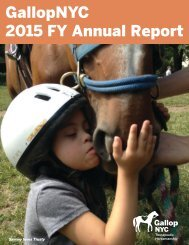 GallopNYC 2015 FY Annual Report