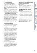Sony MHS-FS3K - MHS-FS3K Istruzioni per l'uso Ceco - Page 4