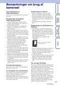 Sony MHS-FS3K - MHS-FS3K Istruzioni per l'uso Danese - Page 3