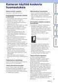 Sony MHS-FS3K - MHS-FS3K Istruzioni per l'uso Finlandese - Page 3