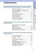 Sony MHS-FS1 - MHS-FS1 Istruzioni per l'uso Finlandese - Page 7