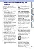 Sony MHS-FS3 - MHS-FS3 Istruzioni per l'uso Tedesco - Page 3