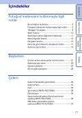Sony MHS-FS1 - MHS-FS1 Istruzioni per l'uso Turco - Page 7