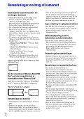 Sony MHS-PM5 - MHS-PM5 Istruzioni per l'uso Danese - Page 2