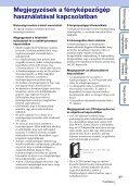 Sony MHS-FS1 - MHS-FS1 Istruzioni per l'uso Ungherese - Page 3