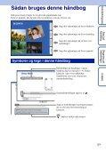 Sony MHS-TS20K - MHS-TS20K Istruzioni per l'uso Danese - Page 2