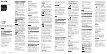 Sony MHS-TS20K - MHS-TS20K Istruzioni per l'uso Slovacco