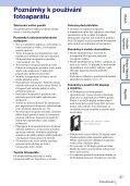 Sony MHS-FS3 - MHS-FS3 Istruzioni per l'uso Ceco - Page 3