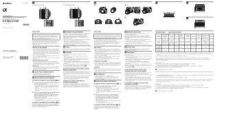 Sony SAL1855 - SAL1855 Istruzioni per l'uso Olandese